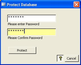 AccessUI for Microsoft Access Administration Tools Password Protection
